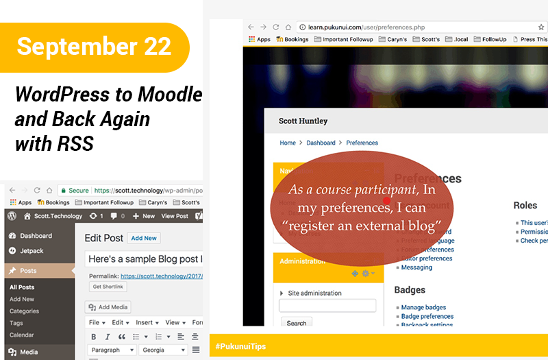 WordPress to Moodle and Back Again with RSS