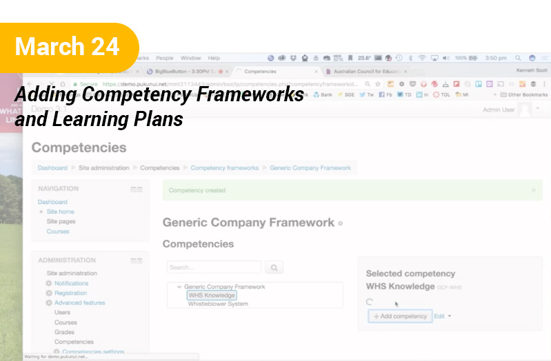Adding Competency Frameworks and Learning Plans