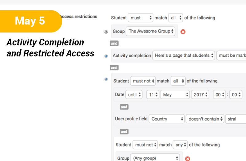 Activity Completion and Restricted Access