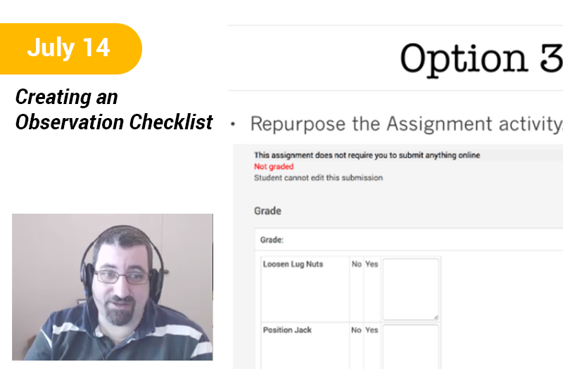 Creating an Observation Checklist in Moodle