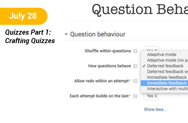 Quizzes Part 1 - Crafting Quizzes